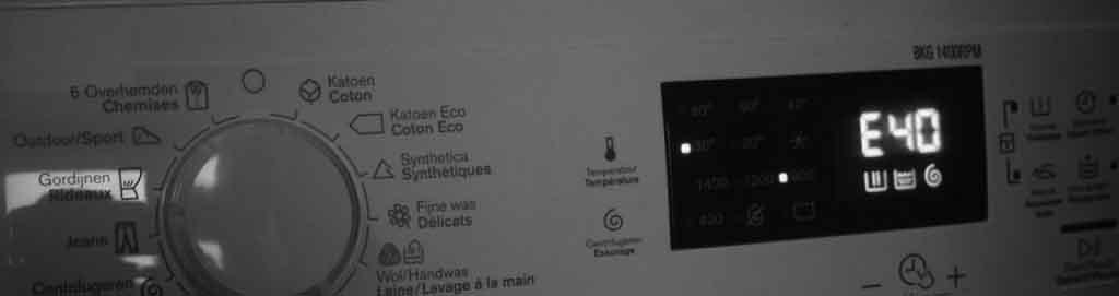 Lỗi e40 máy giặt - khắc phục lỗi e40 máy giặt | Electrolux