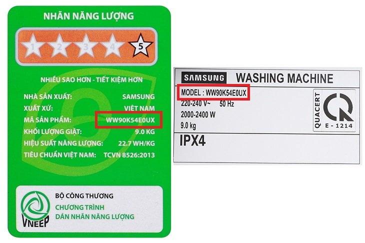 xác định tên của máy giặt