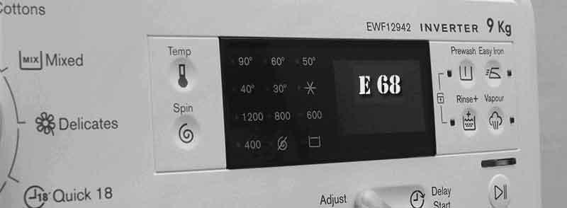 Lỗi E68 máy giặt - sửa lỗi E68 máy giặt | Electrolux