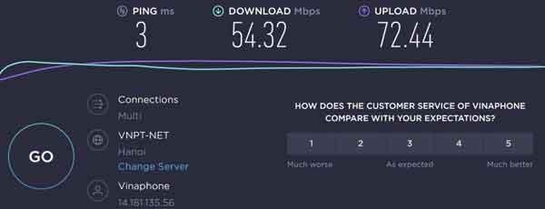 tốc độ upload